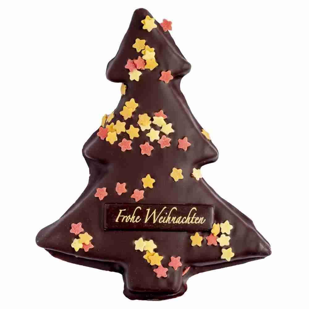 Weihnachtsbaum mit Zartbitterschokolade