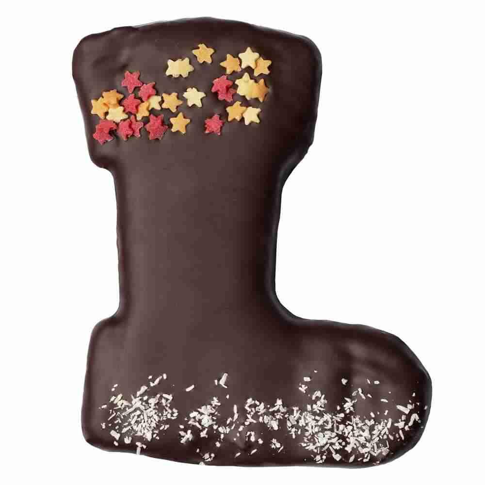 Weihnachtsstiefel mit Zartbitterschokolade - Nikolausstiefel