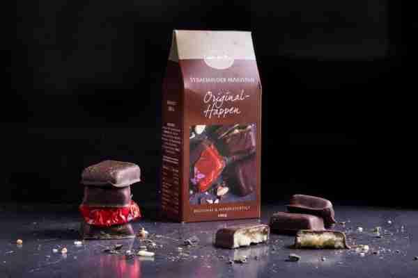 Original-Stralsunder Marzipanhappen mit Zartbitterschokolade
