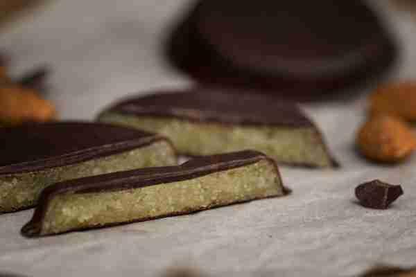 Stralsunder Goldtaler mit Zartbitterschokolade
