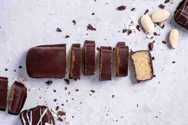 Marzipanbrot Zartbitterschokolade