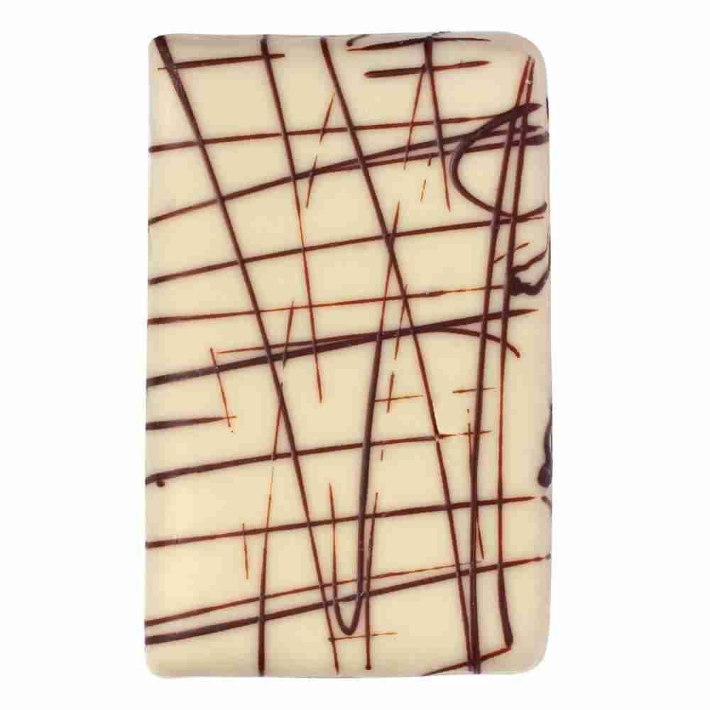 Erdbeermarzipan Tafel mit weißer Schokolade
