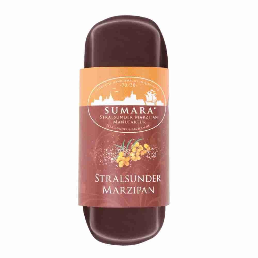 Stralsunder Marzipanbrot Sanddorn Zartbitterschokolade