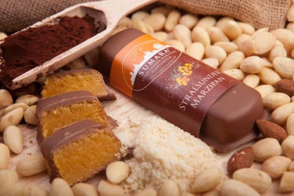 Sanddornbrot in Vollmilchschokolade