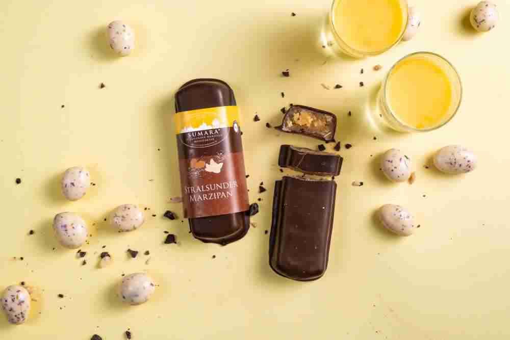 Marzipanbrot Eierlikör mit Zartbitterschokolade