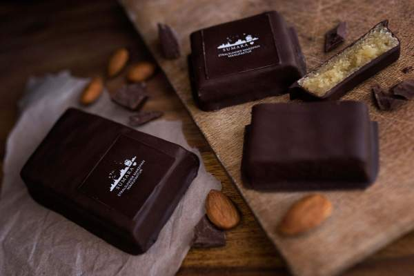 Zartbitterschokolade Marzipantafel