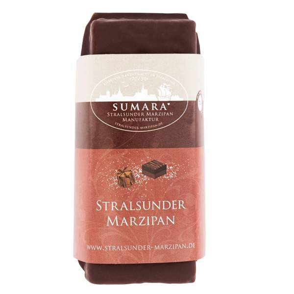 Marzipan-Nougat-Block mit Zartbitterschokolade