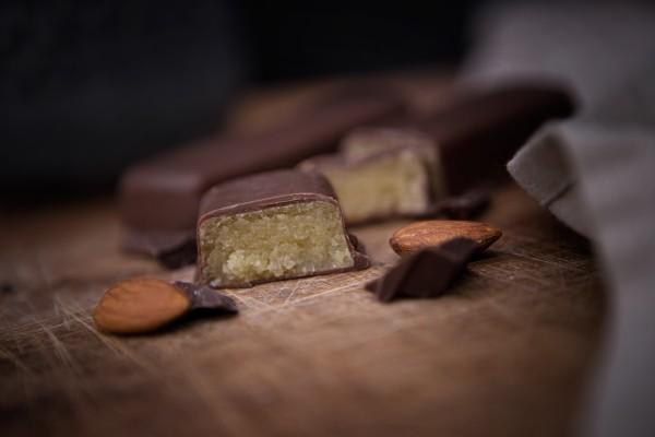 Stralsunder Marzipanbrot mit Vollmilchschokolade